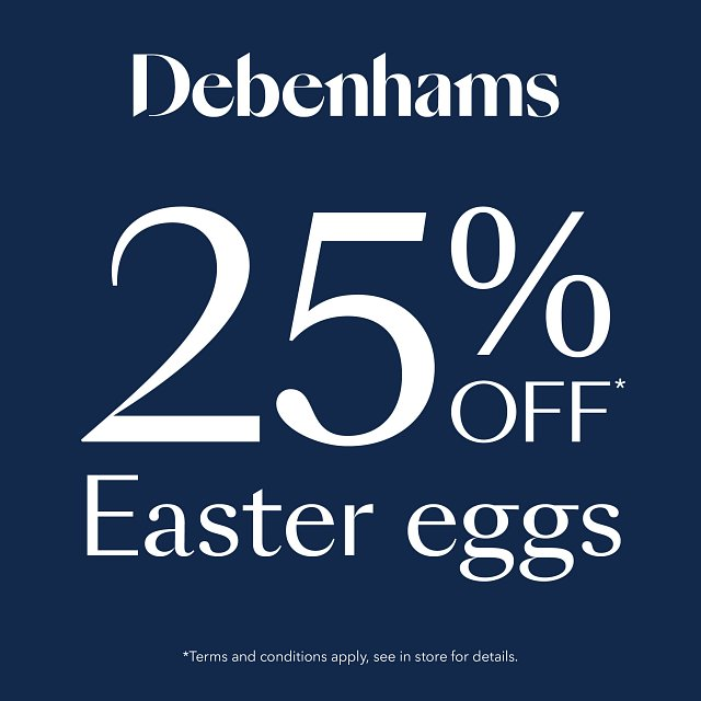 25% off Easter Eggs