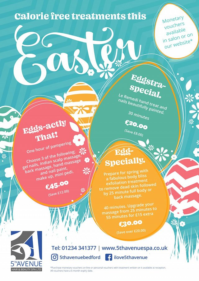 Calorie free treatments this Easter