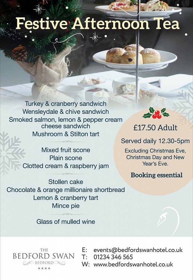 £17.50 for Festive Afternoon Tea