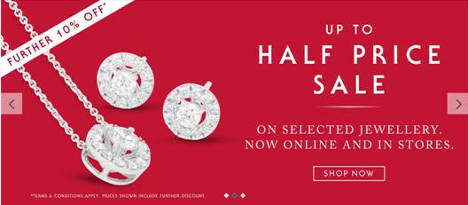 Up to half price Jewellery & Watches
