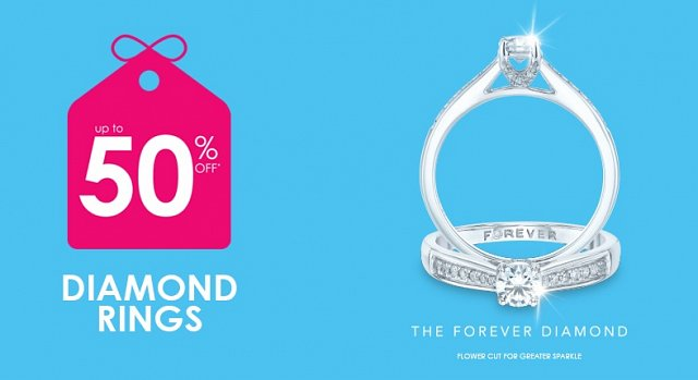 Up to 50% off diamond rings