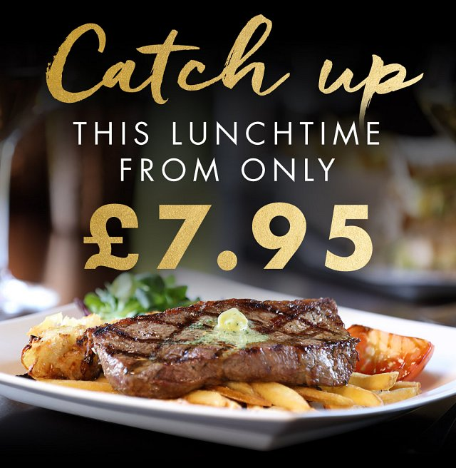 Fixed Price Lunch Menu from £7.95