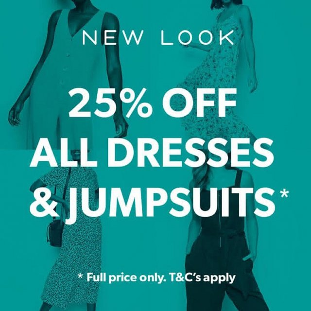 25% Off All Dresses & Jumpsuits