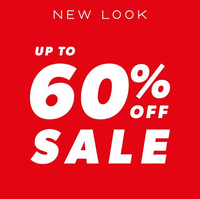 Up to 60% off Sale at New Look