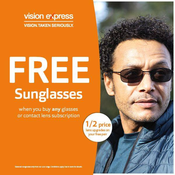 Free pair of Sunglasses With Selected Purchases